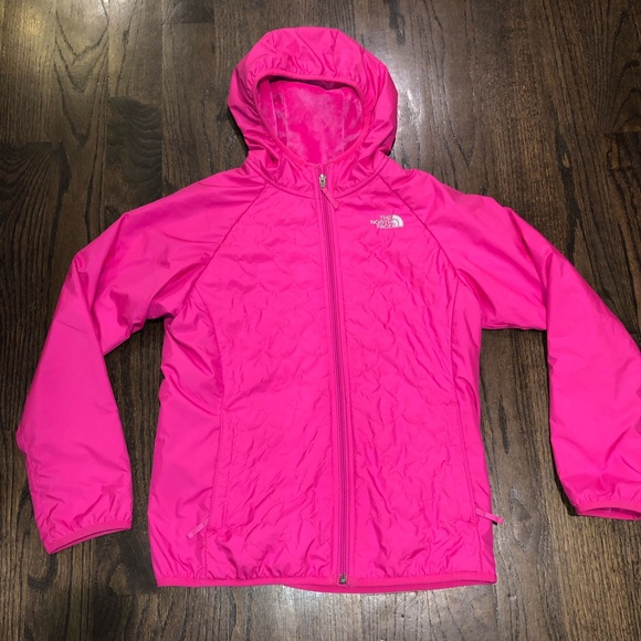 THE NORTH FACE girls pink windbreaker.